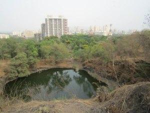 Индия Вид на Мумбаи с горы