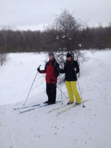Лыжи Даша Ваня