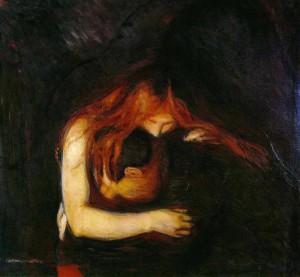 Мунк Вампир 1897 Национальная галерея Осло