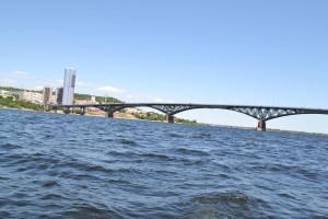 Вид на мост Саратов-Энгельс