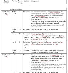 Программа каратэ