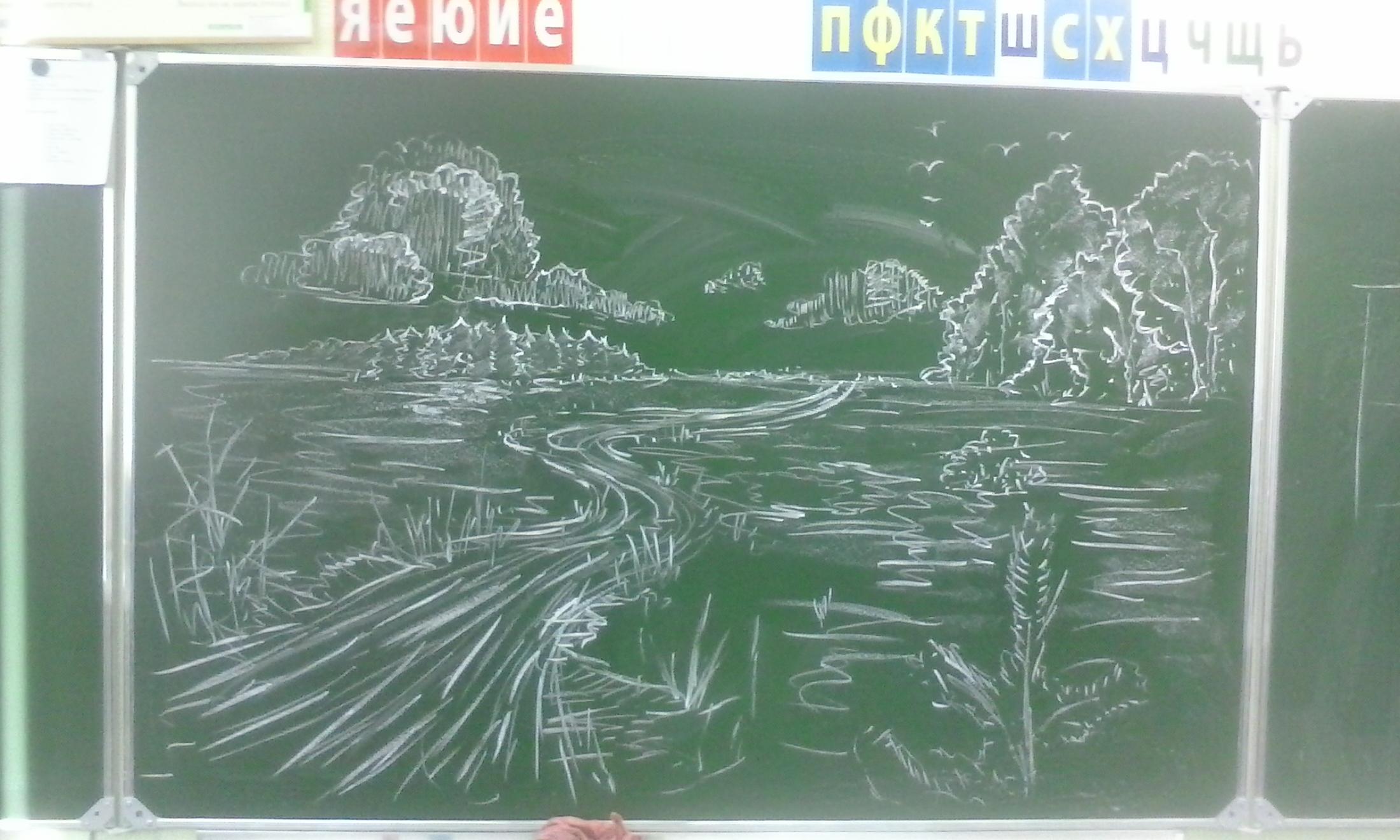 Рисунки с нарисованными учениками